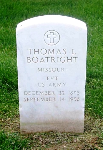 Thomas L. Boatright Gravestone: