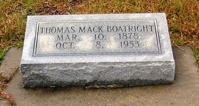 Thomas Mack Boatright Gravestone