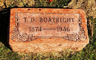 Turner David Boatright Gravestone