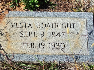 Vesta Boatright Gravestone