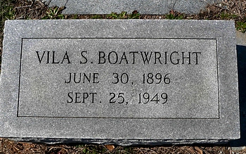 Vila Smith Boatwright Marker