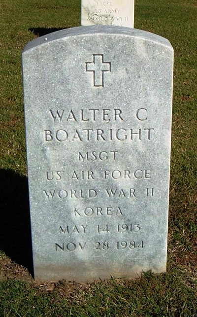 Walter Carroll Boatright Gravestone