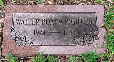 Walter Franklin Boatwright Gravestone