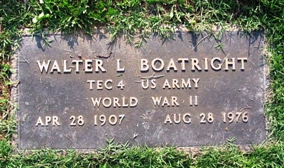 Walter L. Boatright Gravestone