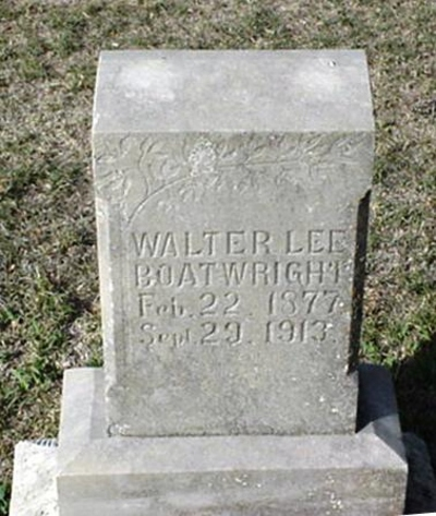 Walter Lee Boatwright Gravestone