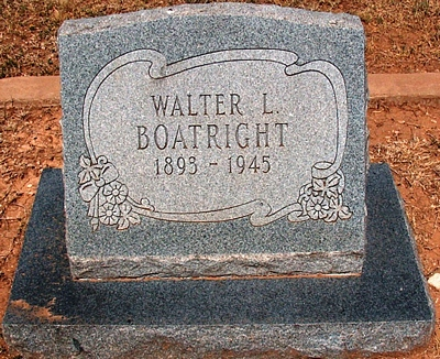 Walter Levi Boatright Gravestone