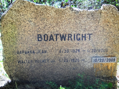 Walter Putney and Barbara Jean Goodwin Boatwright Gravestone