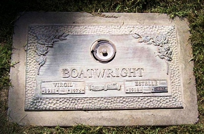 Walter Virgil and Lilly Estelle Allen Boatwright Gravestone