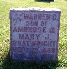 Warren C. Boatwright Gravestone