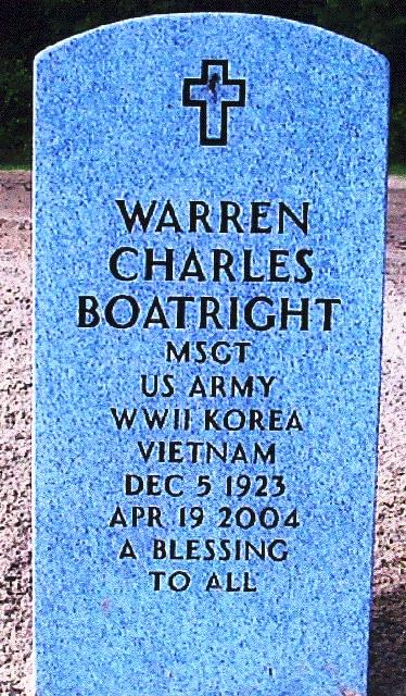 Warren Charles Boatright Gravestone