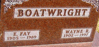 Wayne Reese and Esther Faye Tucker Boatwright Gravestone