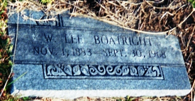 Wilburn Lee Boatwright Gravestone