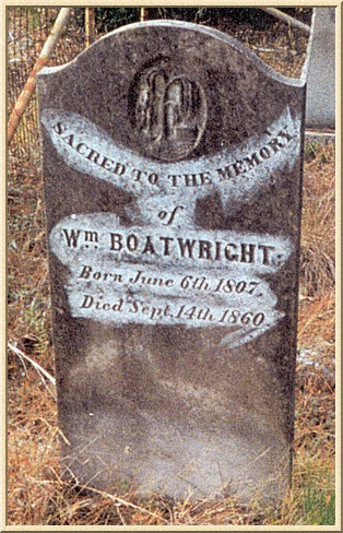 William Boatwright Gravestone