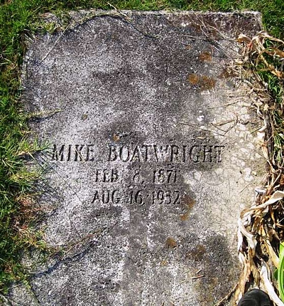William Dawson Mike Boatwright Gravestone