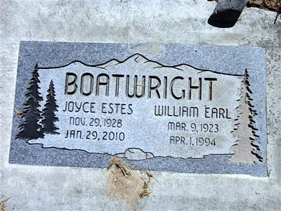 William Earl and Betty Joyce Estes Boatwright Gravestone