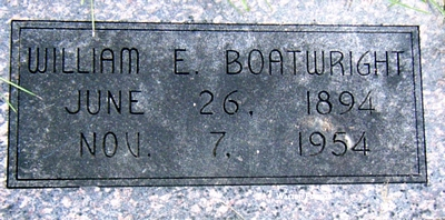 William Earl Boatwright Marker