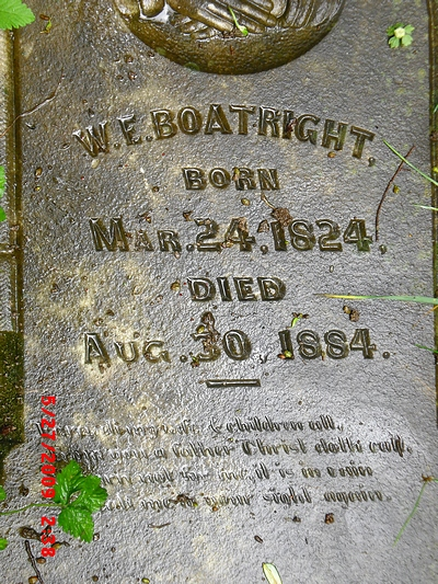 William English Boatright Gravestone