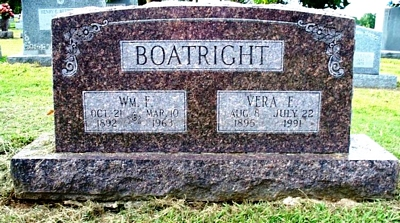 William Francis and Vera Betterton Boatright Gravestone