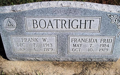 William Franklin and Franeida Frid Boatright Gravestone