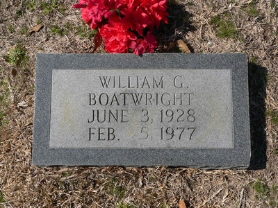 William G. Boatwright Gravestone