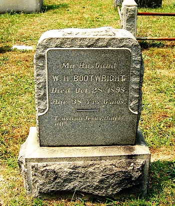 William Henry Bootwright Gravestone