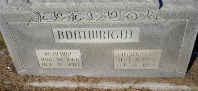William Henry and Martha E. Inman Boatwright Gravestone