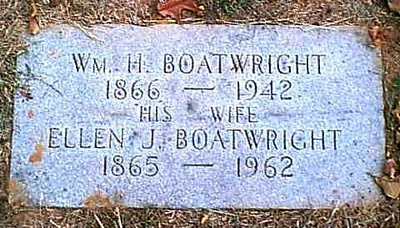 William Henry and Ellen Jane Campling Boatwright Gravestone
