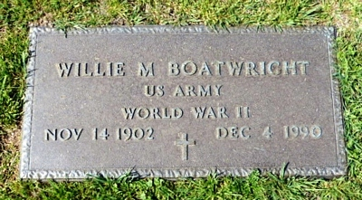 William M. Boatwright Gravestone