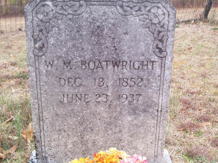 William Manly Boatwright Tombstone