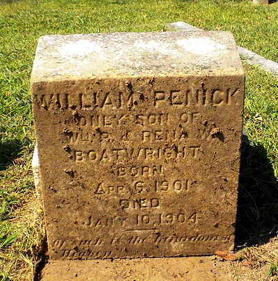 William Penick Boatwright Gravestone