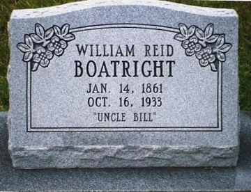 William Reid Boatright Gravestone