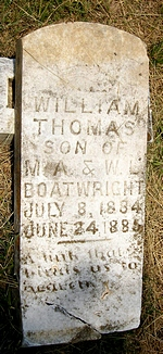 William Thomas Boatwright Gravestone