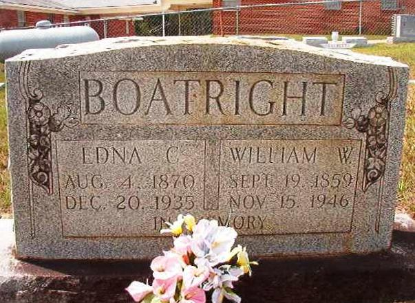 William Washington Boatright and Edna Callie Dudley Gravestone