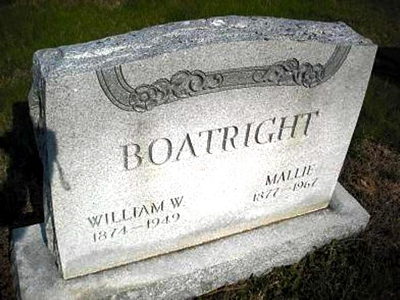 William Wyatt Boatright and Mallie Kie Shepard Gravestone