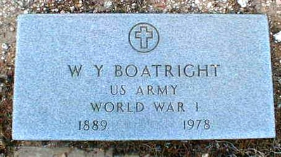 Willie Yater Boatright Marker