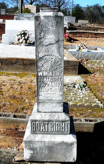 Willis Gordon Boatright Gravestone