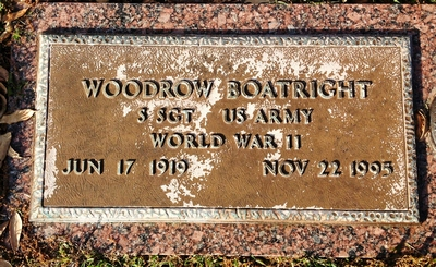 Woodrow Boatright Gravestone