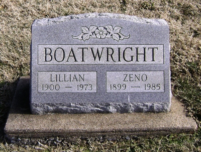 Zeno Edwin and Lida Lillian Terry Boatwright Gravestone